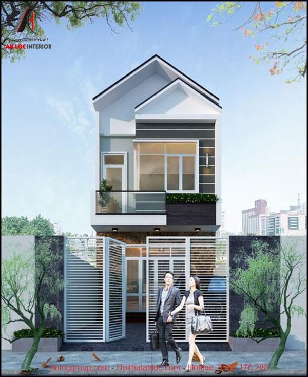 Cửa kính trắng tạo không gian mở cho toàn không gian nhà