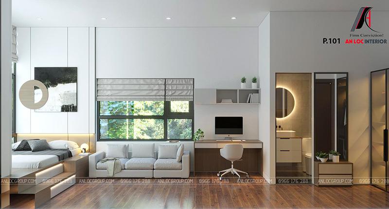 Thiết kế nội thất khách sạn phòng 101
