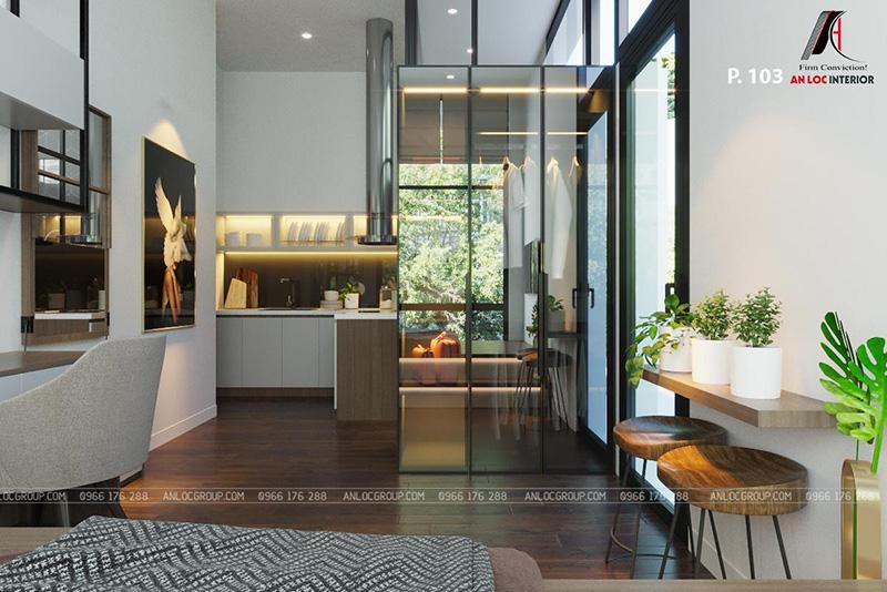 thiết kế nội thất khách sạn phòng 103