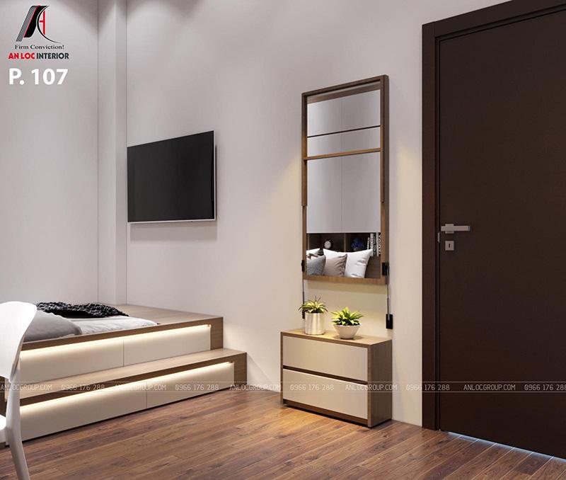 thiết kế nội thất khách sạn phòng 107