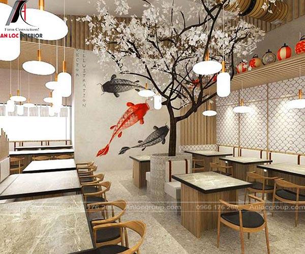 Thiết kế nội thất nhà hàng kiểu Nhật với phong cách ấn tượng, cuốn hút