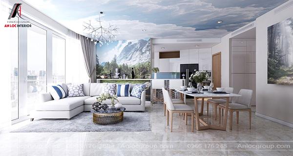 Mẫu 8 - Thiết kế nội thất phòng khách hiện đại