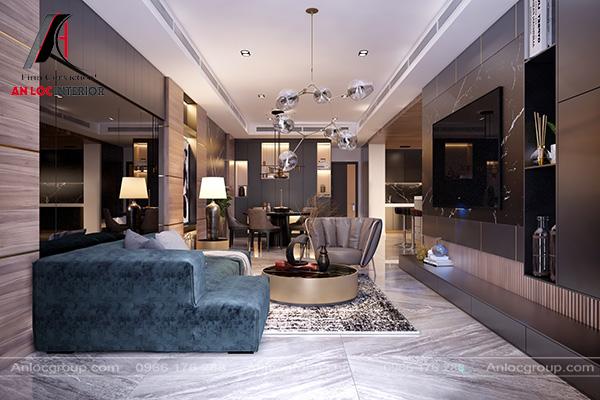 Mẫu 9 - Trang trí phòng khách 20m2