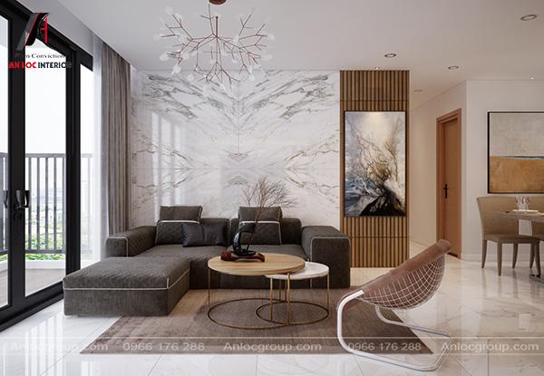 Mẫu 10 - Phòng khách chung cư đẹp