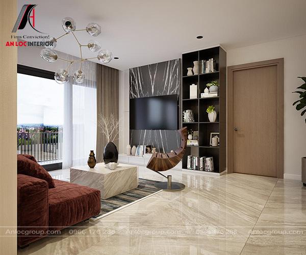 Mẫu 11 - Thiết kế nội thất phòng khách chung cư với nội thất cao cấp