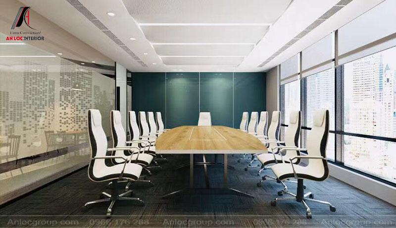 Thiết kế phòng họp công ty công nghệ