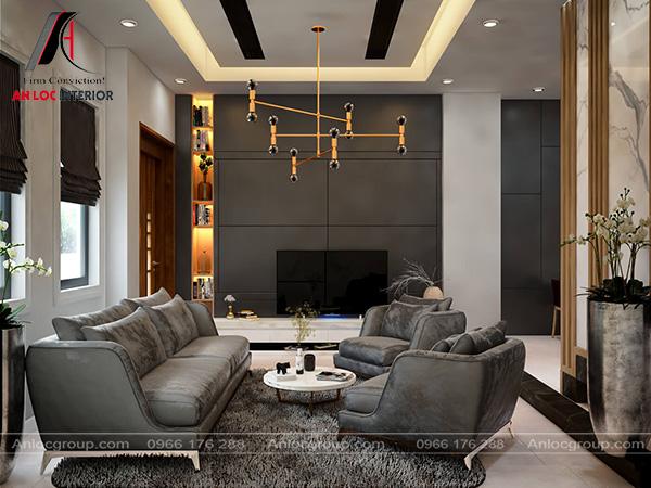 Mẫu 18 - Thiết kế phòng khách biệt thự hiện đại