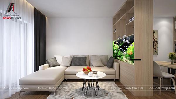 Mẫu 2 - Thiết kế phòng khách nhỏ đẹp