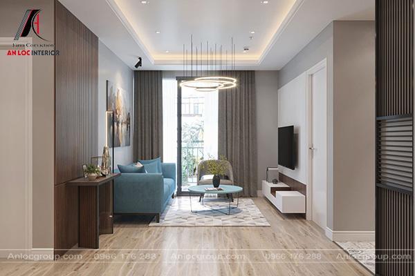 Mẫu 4 - Phòng khách nhỏ đẹp với màu trung tính