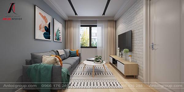 Mẫu 5 - Thiết kế phòng khách đơn giản