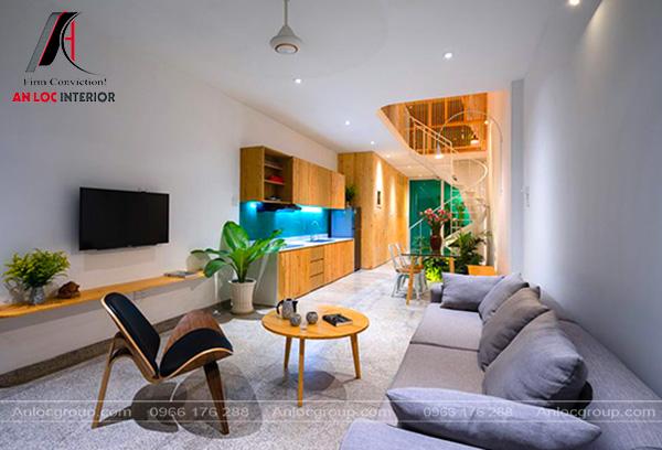 Mẫu 29 - Thiết kế phòng khách nhà ống 4m
