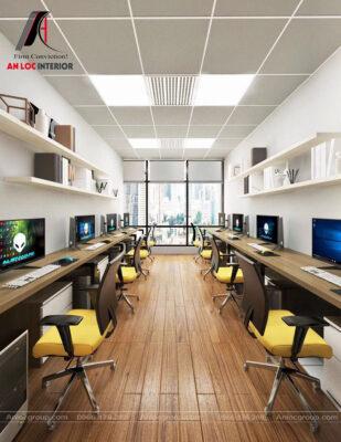 Thiết kế phòng làm việc công ty công nghệ