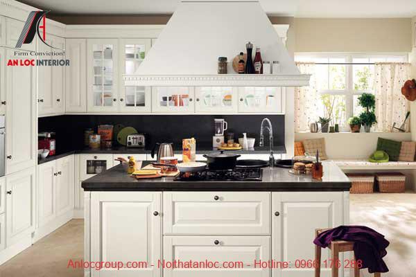 Thiết kế bếp chung cu có bàn đảo là cách bố trí sáng tạo, hiệu quả