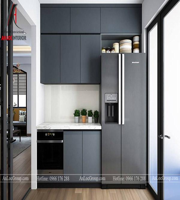 Mẫu tủ bếp căn hộ được ưa chuộng nhất hiện nay