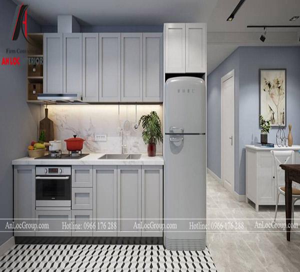 Tủ bếp thường sử dụng những chất liệu dễ tháo lắp, lâu chùi