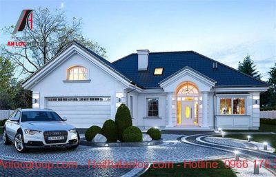 Mẫu thiết kế biệt thự 1 tàng mái Thái kiểu Pháp tạo nên môi trường sống ấn tượng
