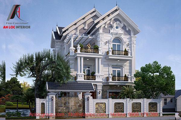 Mẫu biệt thự 3 tầng tân cổ điển tạo nên vẻ đẹp bắt mắt, tinh tế