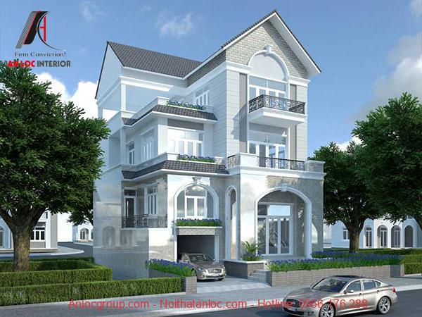 Kiến trúc hình vòm được đặt trong mái thái xám khiến căn nhà trở nên sang trọng, độc đáo