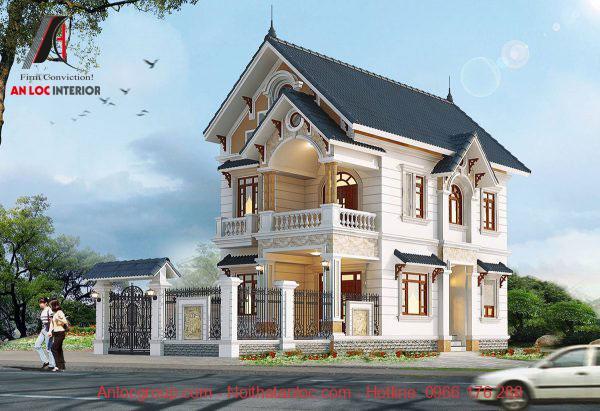 Biệt thự mini 2 tầng mái thái hiện đại với lối kiến trúc ấn tượng