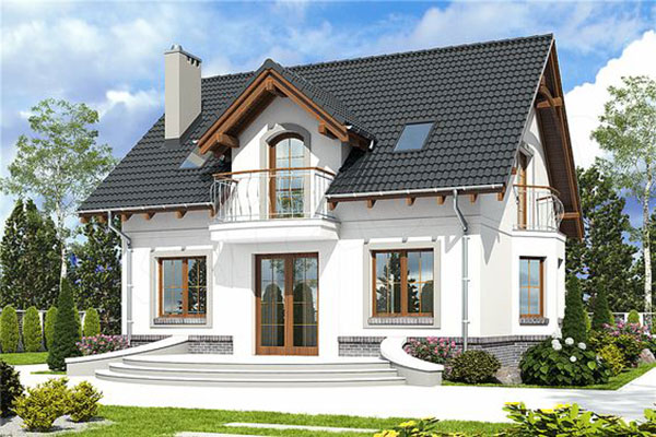 Mẫu biệt thự 2 tầng mái thái xuất hiện phổ biến ở nông thôn nước ta