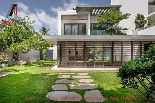 Biệt thự mini 2 tầng 80m2 có sân vườn đem đế cảm giác thoải mái dễ chịu