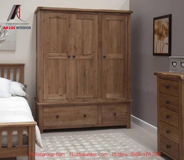 Vẻ đẹp tự nhiên của từng thớ gỗ được gia công trong sản phẩm nội thất