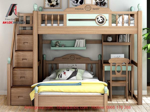 Giường tầng trẻ em làm từ gỗ ASH