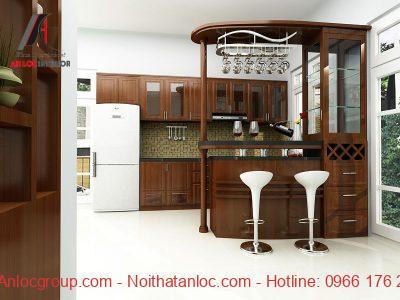 Nội thất phòng bếp bằng gỗ hợp tuổi 1988
