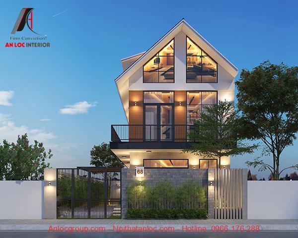 Mẫu thiết kế biệt thự phố hiện đại có thể chiêm ngưỡng nội thất bên trong. Đây cũng là cách nâng cao thâm mỹ
