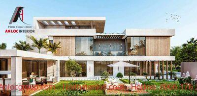 Mẫu thiết kế biệt thự nhà vườn 2 tầng trên đất 500m2