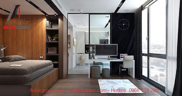 Ánh sáng được phân bổ hợp lý qua khung cửa sổ giúp căn hộ hạn chế bí bách
