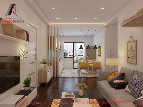 Phòng khách liền bếp trở thành xu hướng thiết kế chung cư mini được nhiều gia chủ lựa chọn