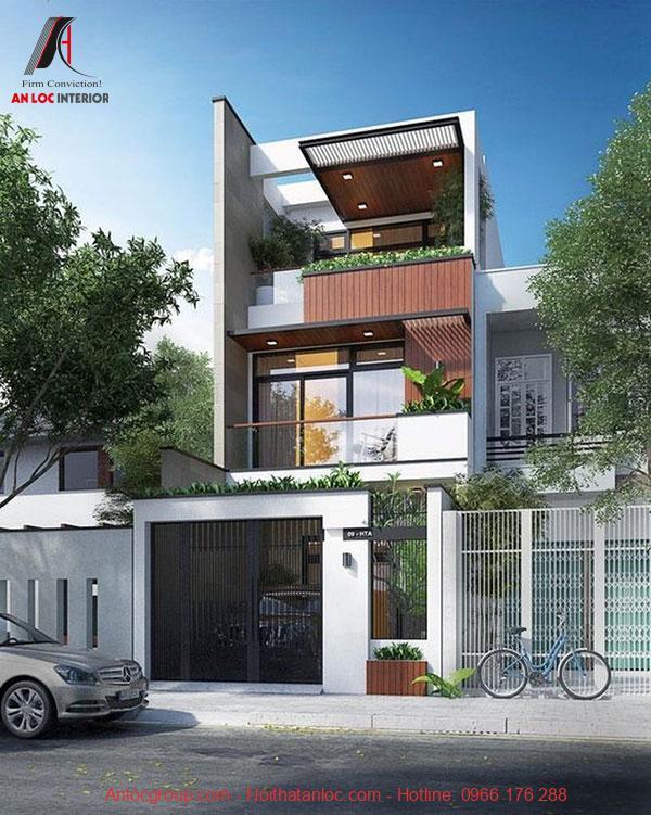 Xây nhà 3 tầng đẹp có không gian xanh đi kèm với không gian thoáng đãng, dễ chịu