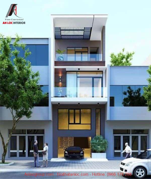 Thiết kế nhà 3 tầng có gara mang đến sự hiện đại, tiện nghi