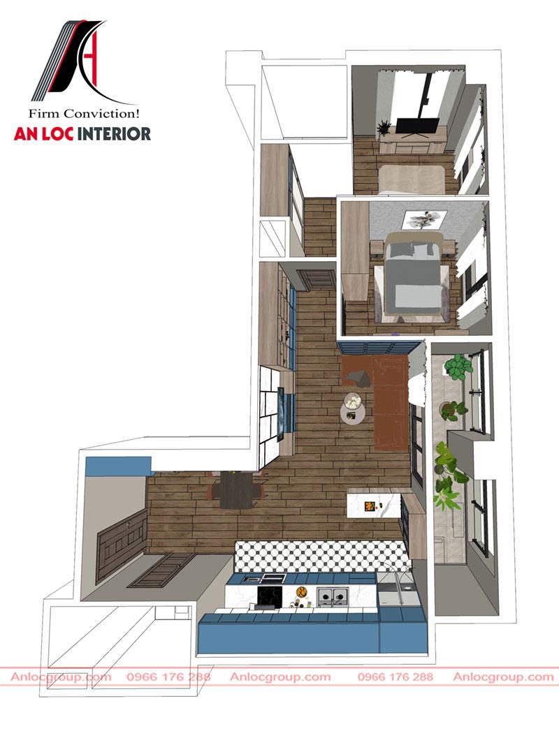Thiết kế nội thất chung cư Hà Tây Millennium