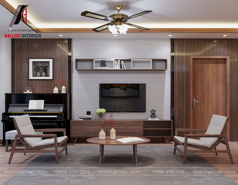 Món đồ nội thất được lựa chọn kiểu dáng đơn giản nhưng không mất đi nét đẹp của căn phòng