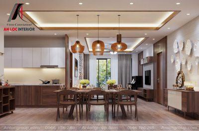 Thiết kế nội thất nhà liền kề tại Hà Đông
