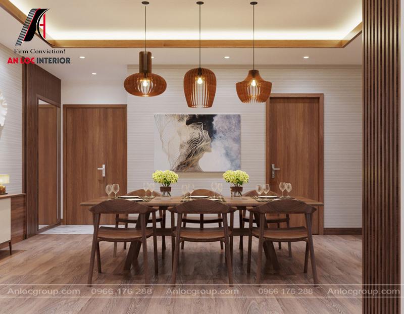 Hệ thống đèn chiếu sáng vừa đủ mang đến không gian ăn uống lãng mạn, ấm cúng
