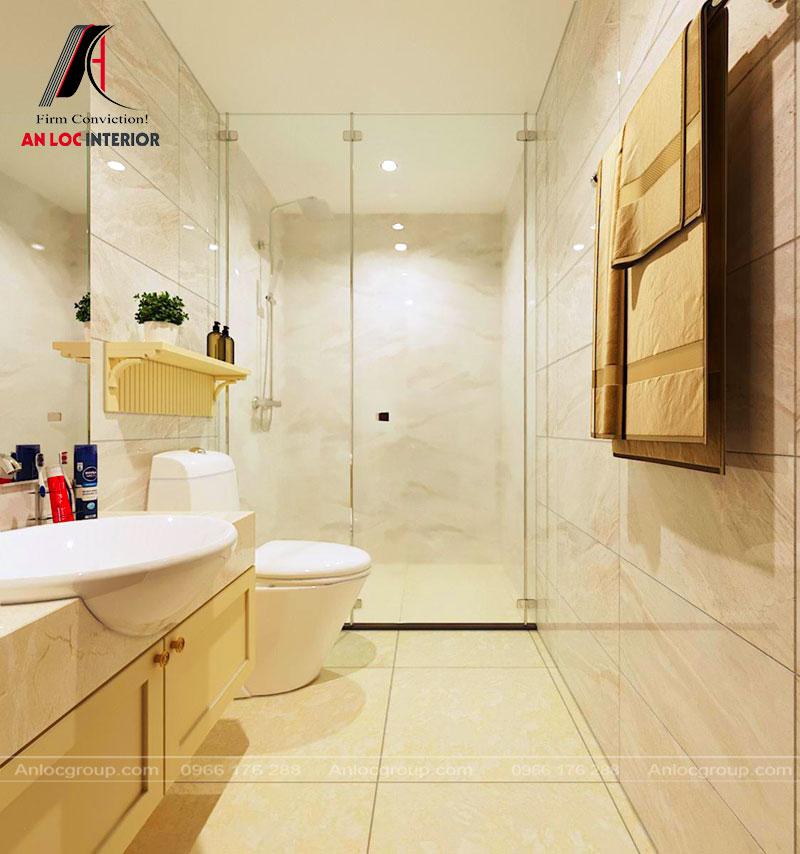 Thiết kế phòng WC căn hộ A2A dự án Thiên Nhiên Kỷ