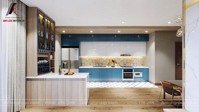 Thiết kế nội thất phòng bếp chung cư Thiên Niên Kỷ