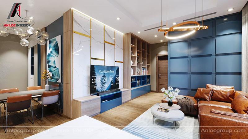 thiết kế phòng khách chung cư Thiên Niên Kỷ
