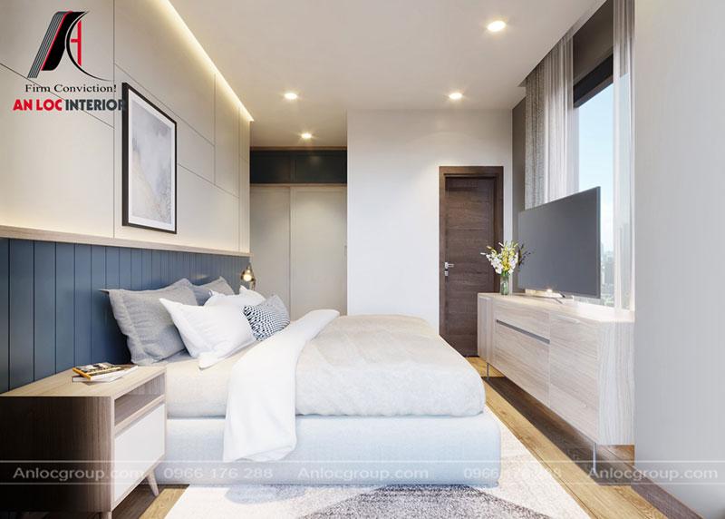 Thiết kế phòng ngủ master chung cư Thiên Niên Kỷ