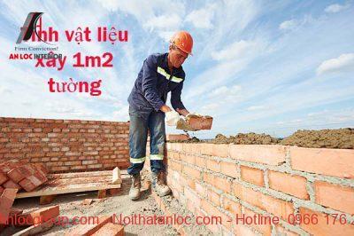 Cách tính vật liệu xây 1m2 tường đơn giản, chính xác