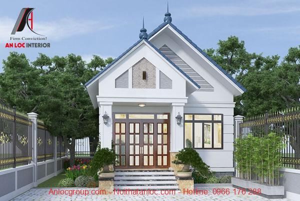 Tiểu cảnh sân vườn của thiết kế nhà diện tích nhỏ 4x10 thu hút ánh nhìn