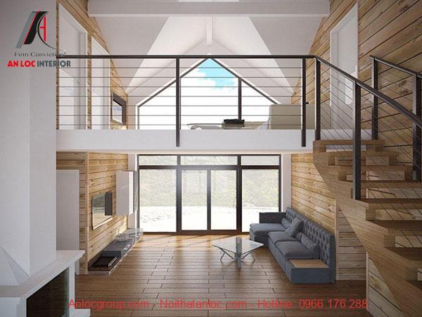 Thiết kế nhà 4x10 với tầng lửng đơn giản, tràn ngập ánh sáng