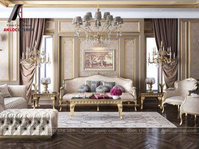 Mẫu thiết kế nội thất biệt thự Luxury Classic