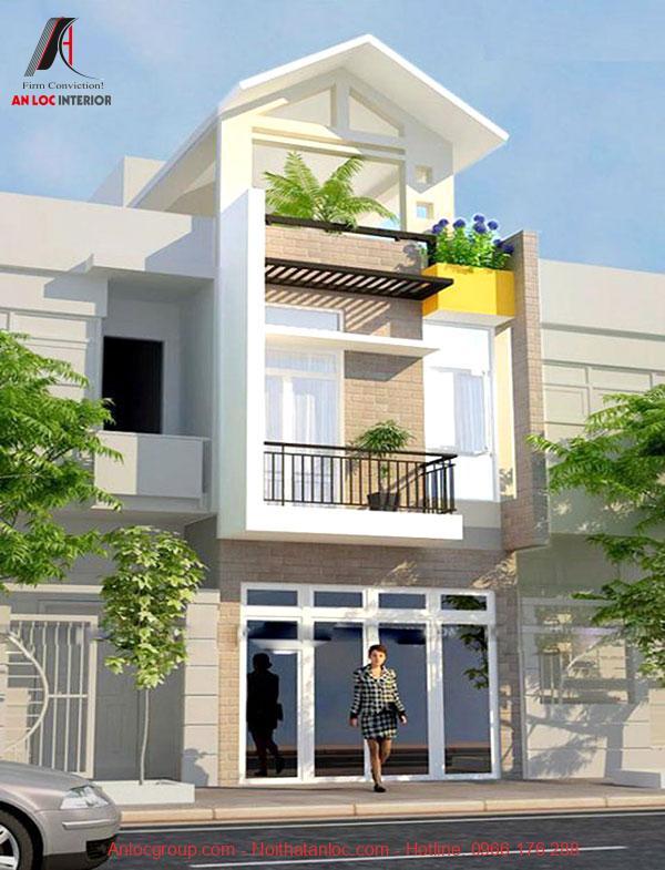 Thiết kế nhà 3 tầng theo phong cách hiện đại mang đến vẻ đẹp cá tính, khỏe khoắn