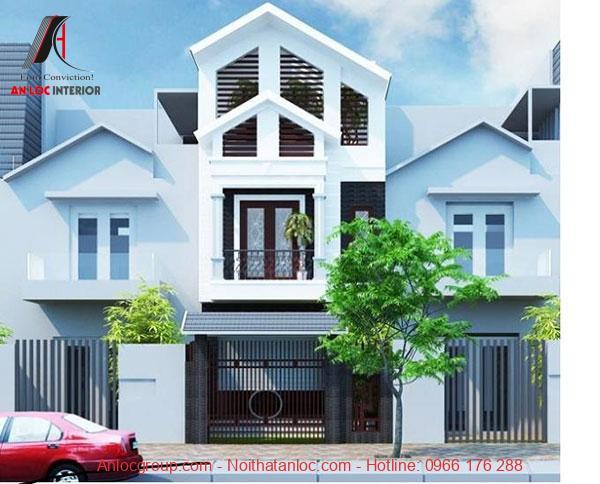 Ô cửa đan xen kết hợp mái thái tạo hiệu ứng thẩm mỹ cho căn nhà