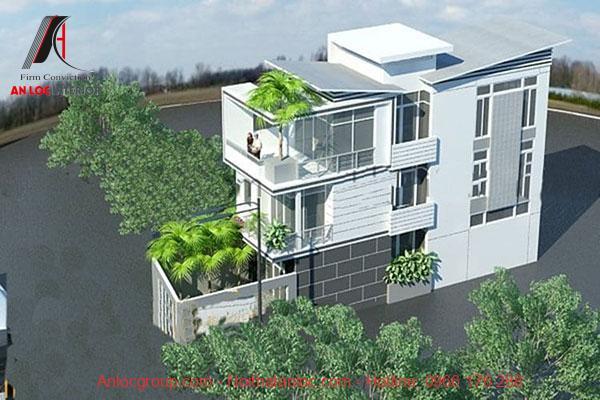 Mặt bằng nhà phố 5m 3 tầng rộng rãi kết hợp cây xanh tự nhiên giúp gia tăng hiệu quả thẩm mỹ