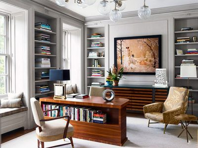 Phòng làm việc đẹp, hiện đại mang đến đường nét uyển chuyển, tinh tế